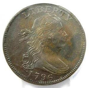 1796 Draped Bust Large Cent Reverse of 1797 1C S-113 Coin R5 - PCGS XF Details