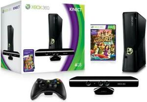 Xbox-360-Kinect-Game-Bundle-4gb-Complete-In-Box-Controller-Console-Cords-Tested