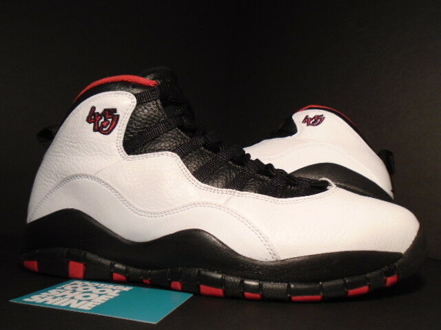 Nike Air Jordan X 10 Retro DOUBLE NICKEL 55 CHICAGO BULLS 45 WHITE BLACK RED 11