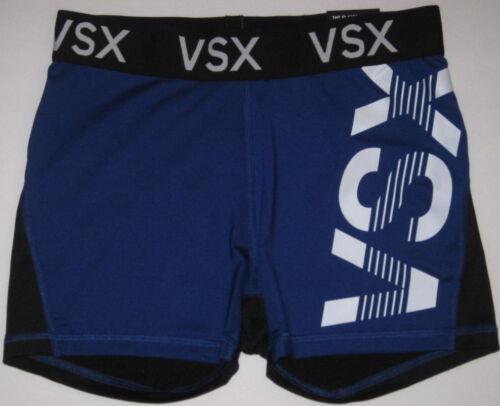 NWT VICTORIA/'S SECRET SPORT VSX WHITE LOGO BLUE BLACK THE PLAYER YOGA HOT SHORTS