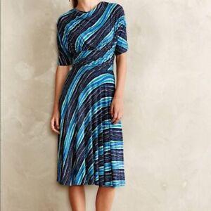 8e24b3c03e63 Image is loading Anthropologie-Plenty-Tracy-Reese-Wintertide-dress-blue-size -