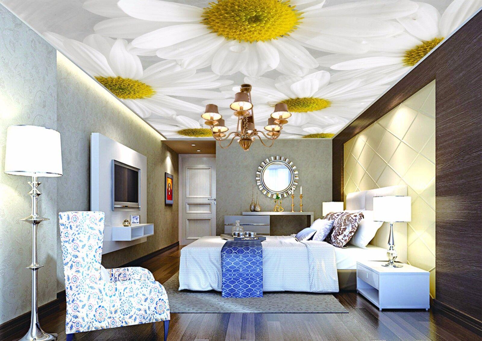 3D Petals Weiß 6 Ceiling WallPaper Murals Wall Print Decal Deco AJ WALLPAPER AU