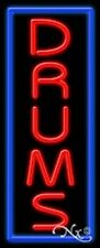 Brand New Drums 32x13 Vertical Border Real Neon Sign Withcustom Options 11544