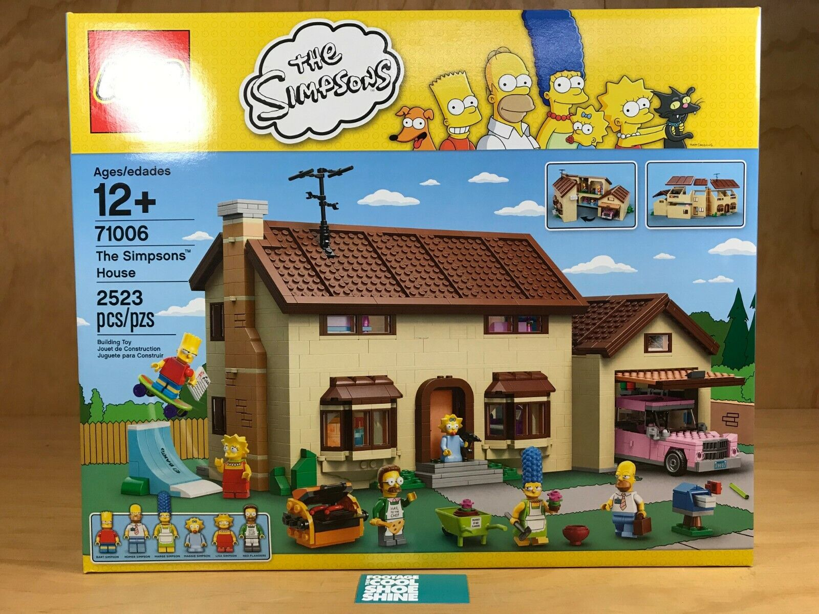LEGO THE SIMPSONS HOUSE BUILDING TOY 71006 MULTI Farbe HOMER MARGE BART LISA NEW