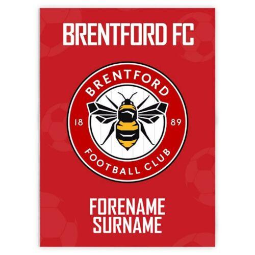 Personalised Blanket Brentford F.C CREST 100x75