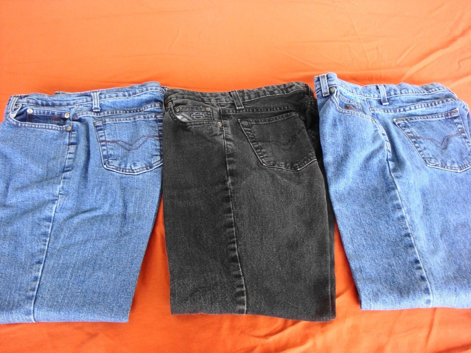 Lot de 3 paires de HARLEY DAVIDSON Jean 2 démarragecut 1 regular-Taille 8 P petite