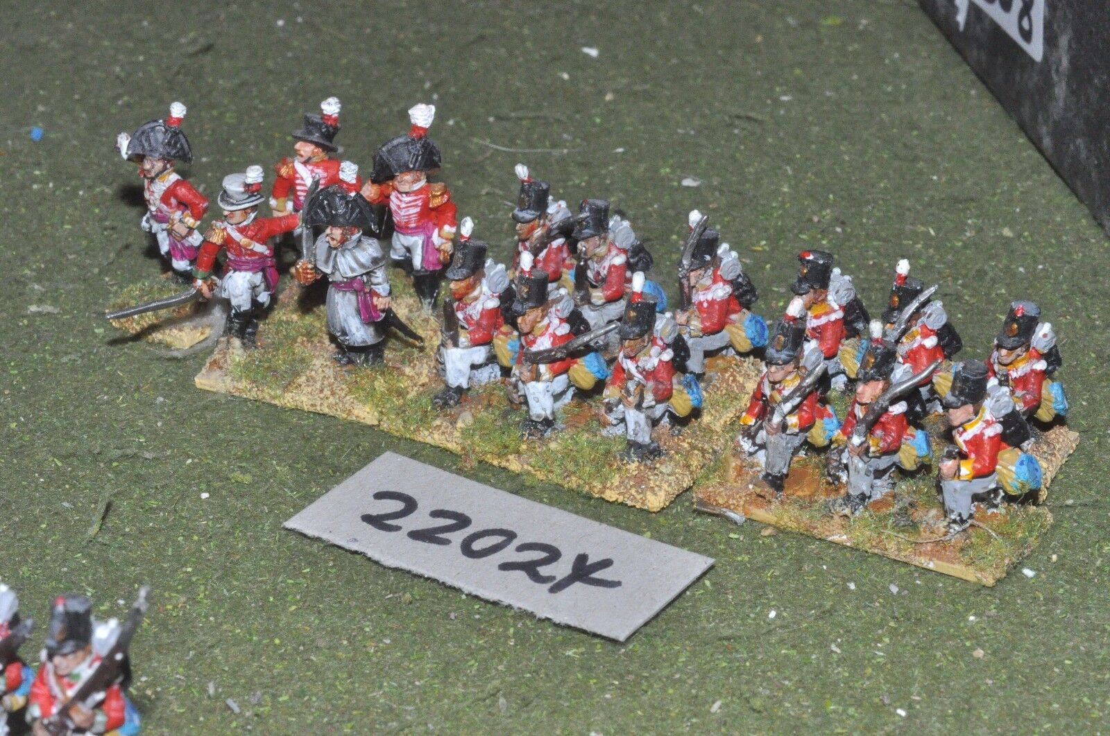 25mm napoleonic   british - line 17 figs infantry - inf (22024)