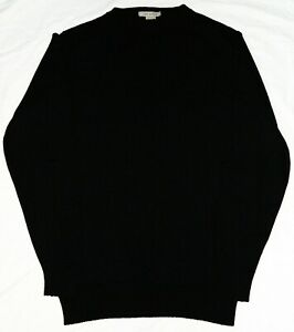 John-Smedley-Black-Crew-Neck-Sweater-Jumper-Size-Large-100-Pure-New-Wool