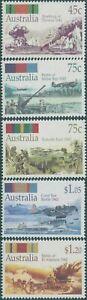 Australia-1992-SG1338-1342-WWII-Battles-set-MNH