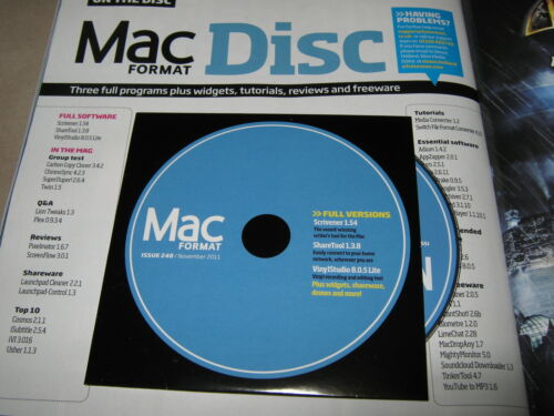 NEW MAC FORMAT November 2011 iMOVIE 80 LION Tips Scrivener 1.54 VinylStudio CD