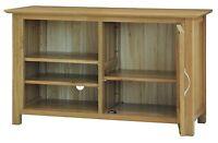 Canberra Solid Oak Furniture Tv Dvd Cabinet Stand Unit