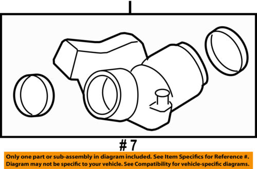 GM OEM Air Cleaner-to Intake Tube Duct Hose 15278630