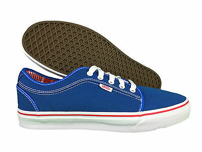 VANS. Chukka Low. Mens Casual Shoe. Sky Blue, Red. Extra Cush. US Size 11 - 13