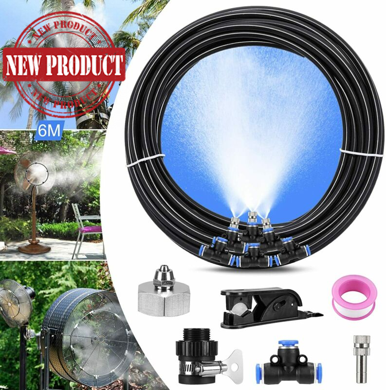 Outdoor Misting Fan Kit for a Cool Patio Breeze ,Water Mister Spray for Cooling