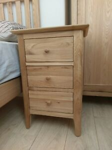 cheaper 07509 76d2c Details about Bergen Light Oak Large Bedside Cabinet / Nightstand /  Scandinavian Style Retro