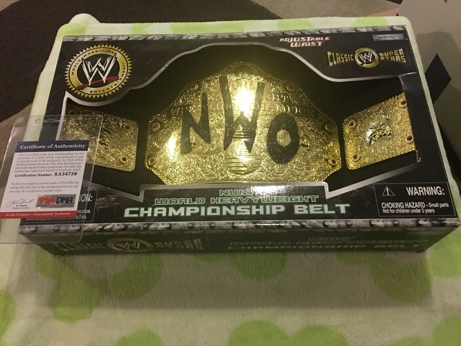 2005 WWE NWO World Heavyweight Championship Belt Signed By The Outsiders (Rare)