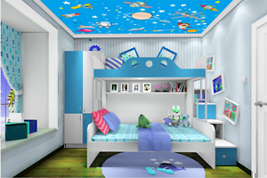 3D Anime Planet 6 Ceiling WallPaper Murals Wall Print Decal Deco AJ WALLPAPER AU