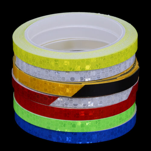 Bicycle Reflective Stickers Motorcycle Reflector Security Wheel Rim Decal TapBCD