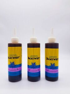 Organic-Agave-Nectar-Lavender-Flavor-Syrup-Low-Glycemic-Vegan-12-oz-3-pack