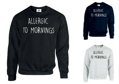 Allergica Alla Mattina Slogan Divertente Maglione Sleepy Nap (dermatite Allergica, Felpa)-mostra Il Titolo Originale