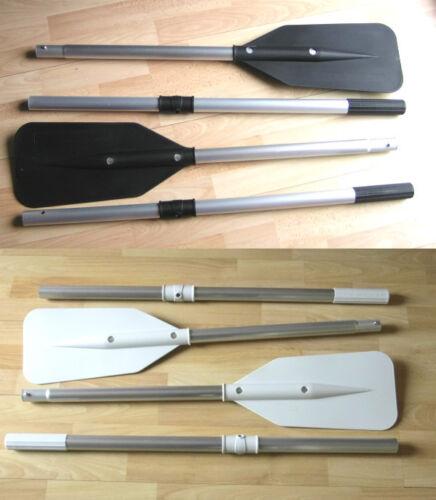 PVC schwarz oder grau 163 cm Schlauchboot Paddel Ruder Beiboot 2 Stk.ALU
