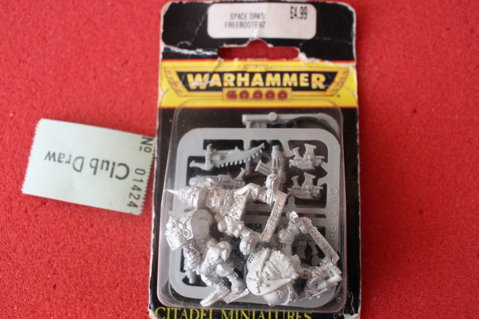 Spel arbetarhop Warhammer 40k Space Orks fribooterz fribooters Metal Figures GW