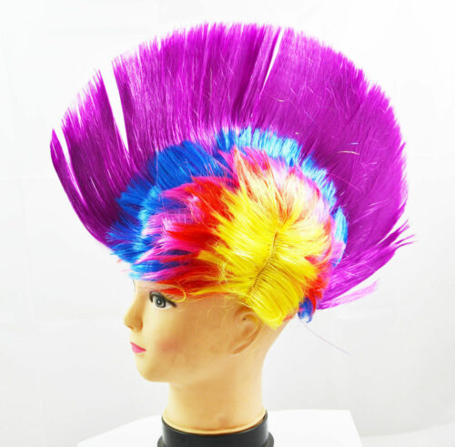 Mohawk Hair Wig Mohican Punk Rock Fancy Dress Cosplay Party Costume Stag Hen Do