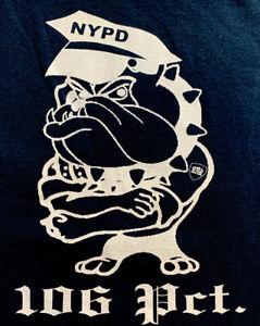 NYPD-ciudad-de-Nueva-York-Departamento-de-Policia-106-Pct-T-shirt-Sz-3XL-New-Queens