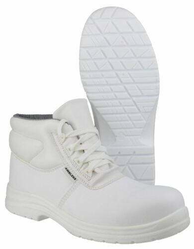 Amblers Safety White FS513 Metal-Free Water-Resistant Lace up Safety Boots