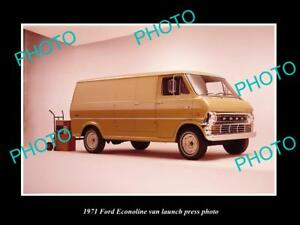 OLD-LARGE-HISTORIC-PHOTO-OF-1971-FORD-ECONOLINE-VAN-LAUNCH-PRESS-PHOTO-2