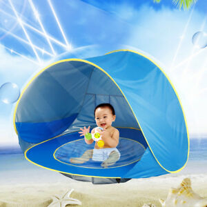 Anti-UV-Pop-Up-Tente-Camping-pour-Bebe-Ombre-Pavillon-Moustiquaire-Plage-Ete-Kit
