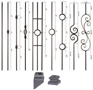 Solid Satin Black Modern Series Iron Balusters