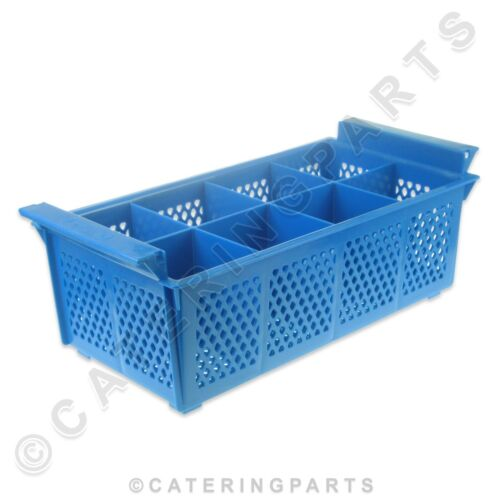 PLASTIC CUTLERY HOLDER BASKET EIGHT 8 COMPARTMENT FOR COMMERCIAL DISHWASHER USE