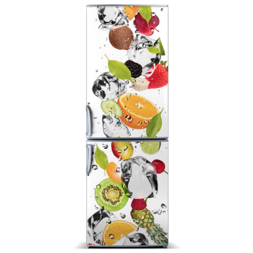 3D  Fridge Self Adhesive Removable Sticker Decal Food Fruit and water