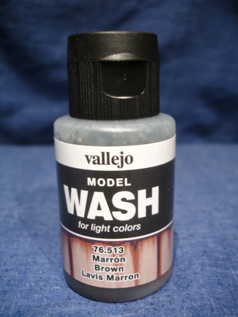Vallejo Model Air Acrylic Brown Wash 76.513 - 35ml For Light Colours