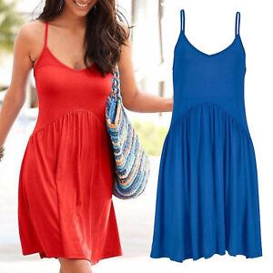 genial-mini-Kleid-Gr-42-XL-Strandkleid-Sommerkleid-Jersey-Shirtkleid-BLAU