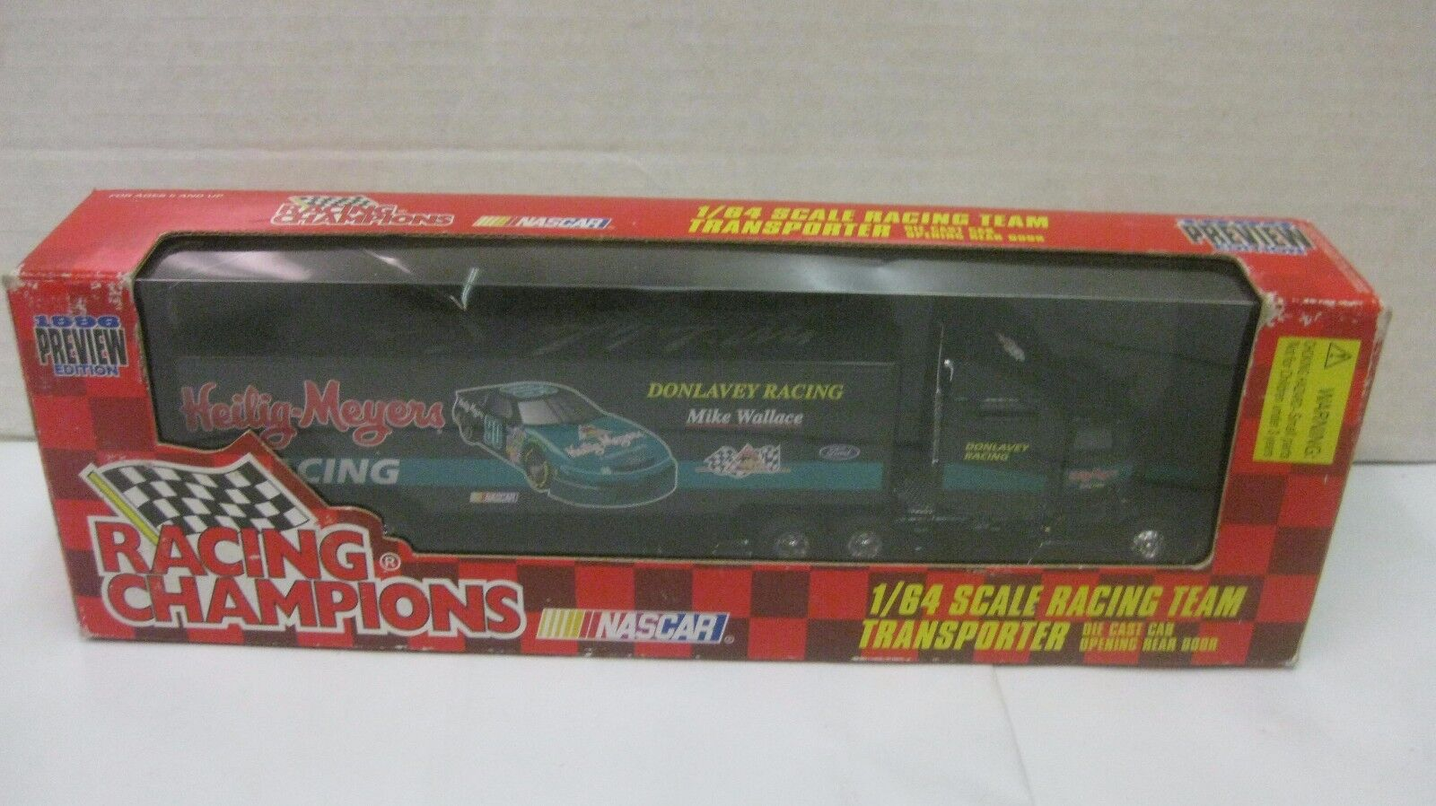 Nascar Mike Wallace Signed Heilig Meyers Hauler 1 64 Scale Diecast RC 1996