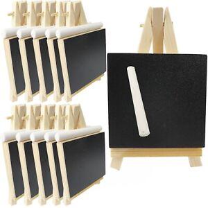 10-50 x Mini Staffelei Keilrahmen Kreidetafel Tischdeko Leinwand Tischkarte