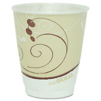 Solo Cup Company Symphony Design Trophy Foam Hot/cold Drink Cups 8oz Beige 100