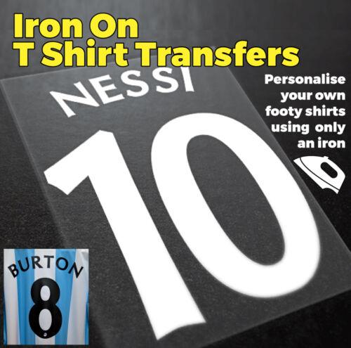 Lecteur de noms et numéros de fer sur Transfert Vinyle de Personnaliser Votre Propre personnes souhaitant assister Shirts
