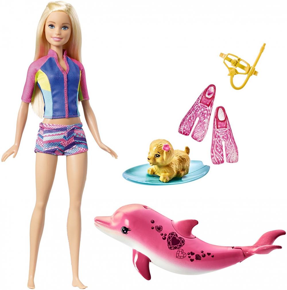 Mattel Barbie FBD63 - Magie der Delfine Barbie und tierische Freunde