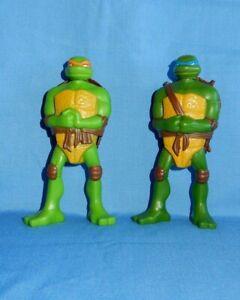 2 Mcdonalds 2007 Tmnt Teenage Mutant Ninja Turtles Mikey Leo Shell