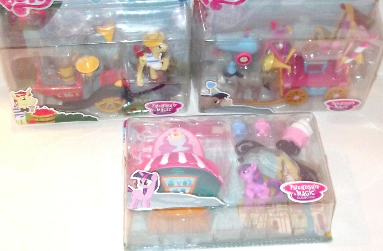 LOT My Little Pony MLP Welcome Wagon Ice Cream Stand Speedy Squeezy 2000 Hasbro