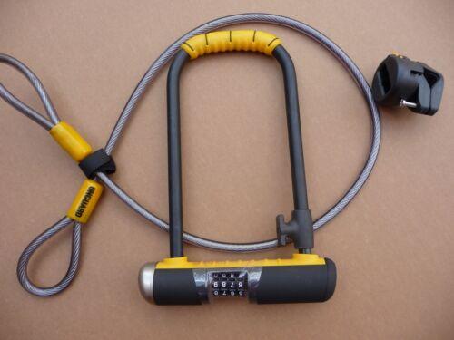 Serrure OnGuard 8012 C Combinaison DT U-lock Manille Vélo Sécurité Bicyclette /> 8012 C /<
