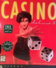 Casino Deluxe 2 PC Computer CD Game by Sierra Laptop & Internet Version Free NEW