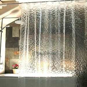 Image Is Loading 3D Water Cube Design Shower Curtain Bathroom Waterproof
