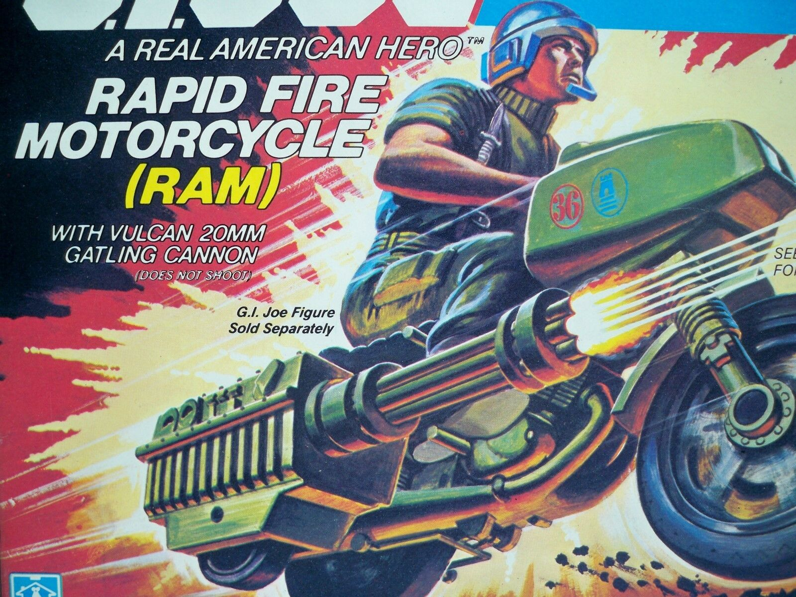 K1877961 RAM RAPID FIRE MOTORCYCLE MIB MINT IN  scatola 1982 GI JOE VINTAGE ORIGINAL  distribuzione globale