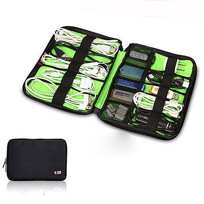 BUBM Data Line Earphone Charger USB Flash Drives Travel Case Digital Storage Bag
