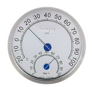 2 PCS Anymetre TH-600B Stainless Steel Temperature Humidity Hygrometer Gauge B