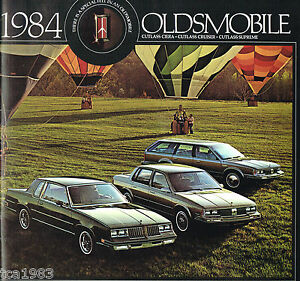 Details about 1984 Oldsmobile CUTLASS CIERA/SUPREME/CRUISER  Brochure/Catalog: Brougham,Wagon,